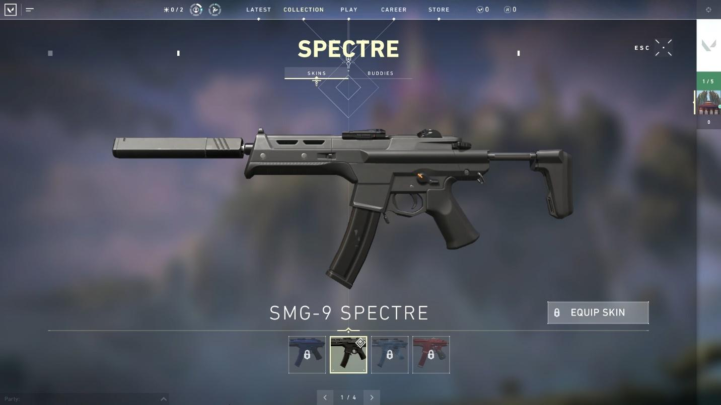 Spectre SMG top weapons in Valorant top weapons in valorant