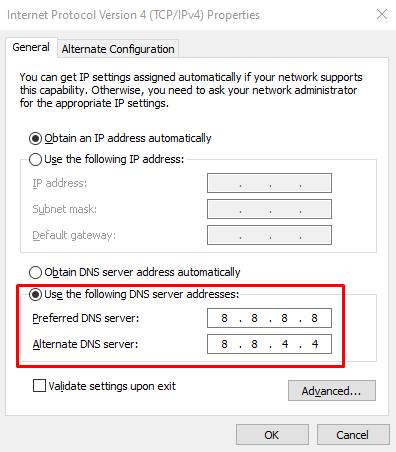 Setting IPv4 di Windows