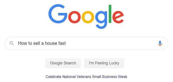 Google Search Bar-How To Sell A House Fast