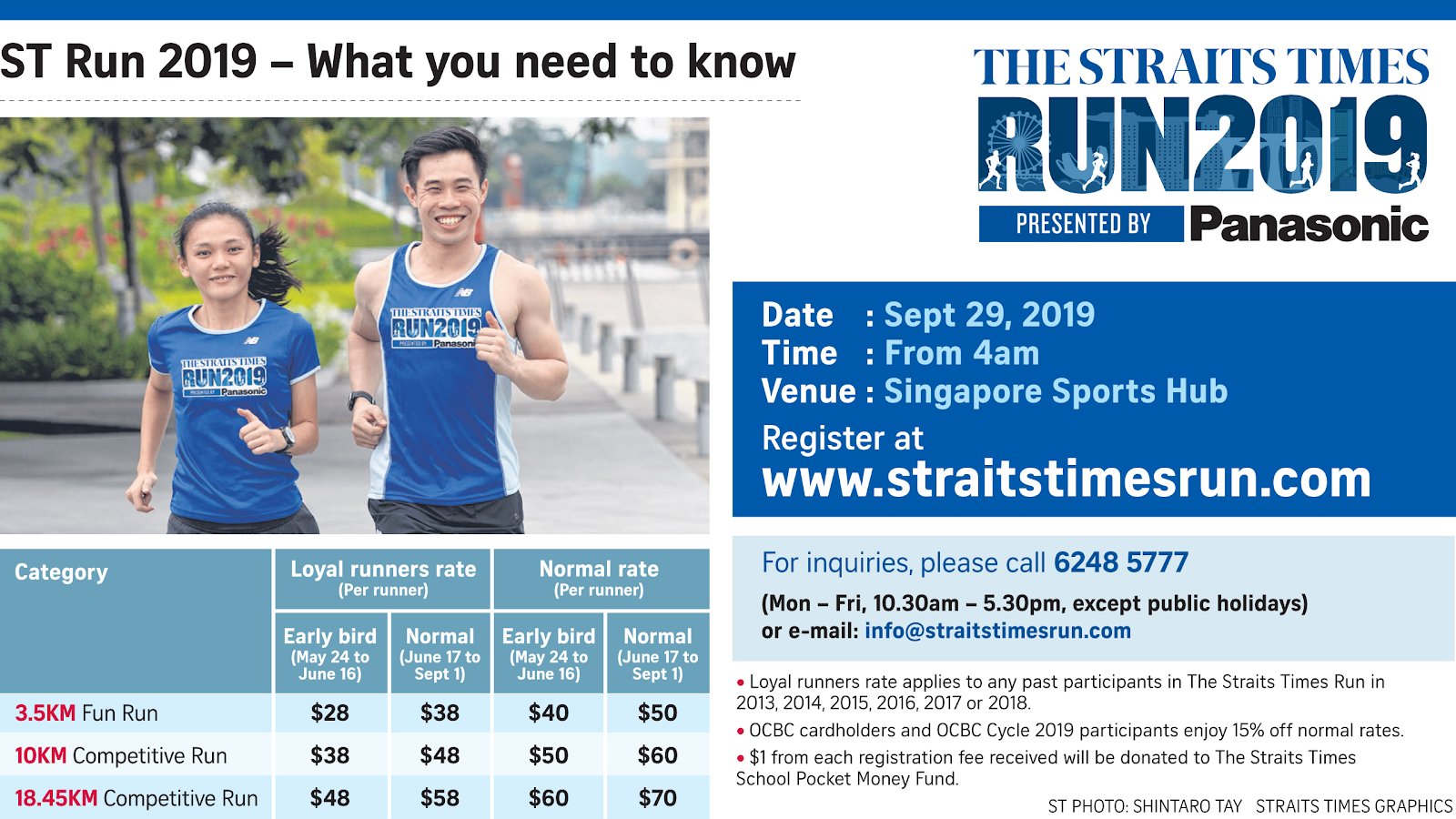Sports events - The Straits Times Run 2019 held at the Singapore Sports Hub