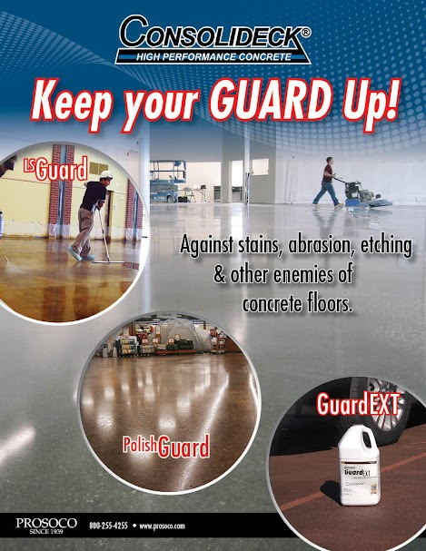 2-sided flyer on protective treatments onf concrete floors