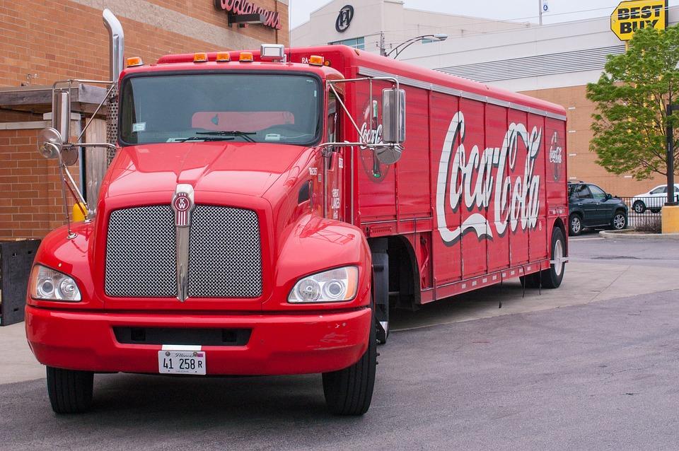 Truck, Red, Coca-Cola, America, Classic, Style