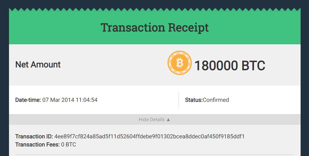 Blocknomics transaction receipt review