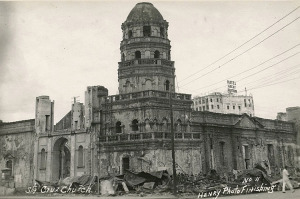 War damage in Manila