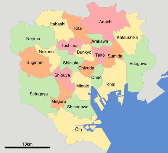 23 wards of Tokyo