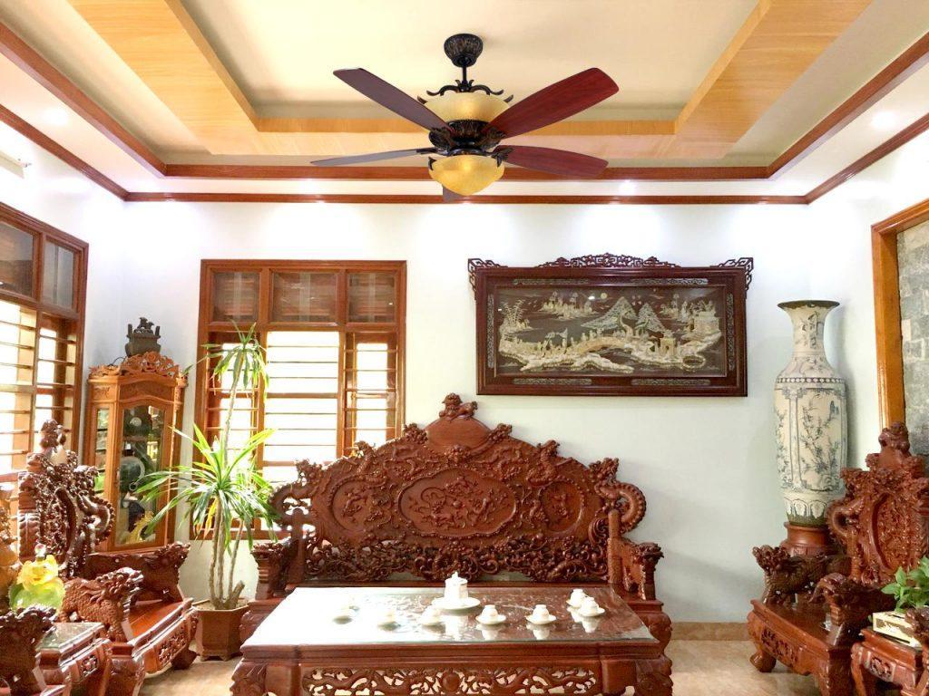 Chọn quạt trần theo kiến trúc phòng khách