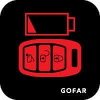 chìa khóa xe fob pin ánh sáng yếu