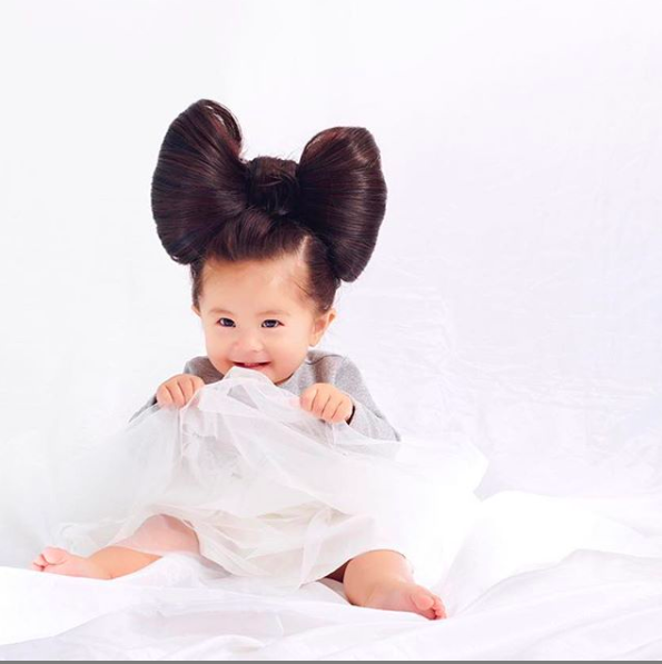 Image result for baby with thick hair