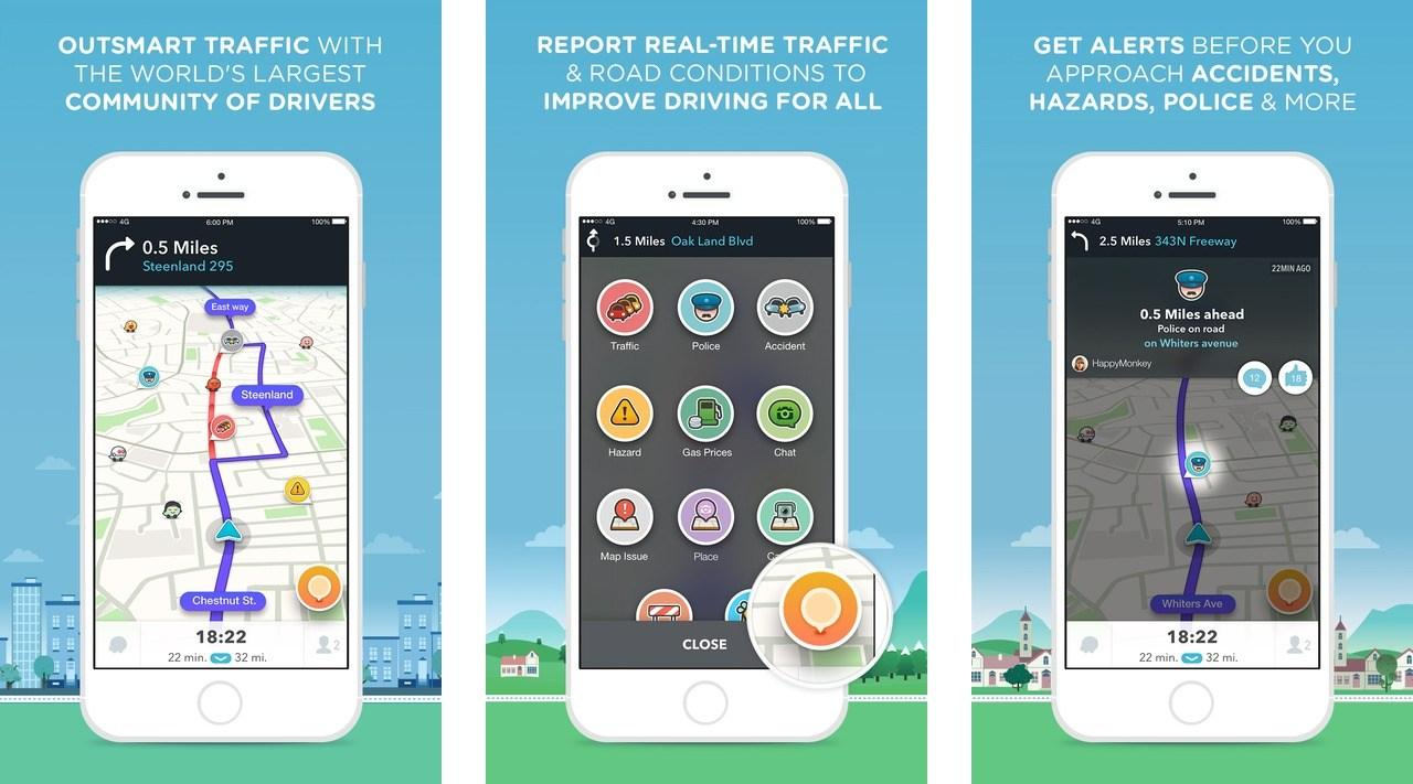 Image result for 1) WAZE Apps
