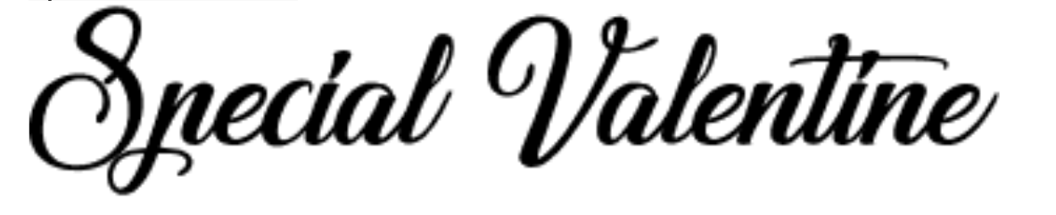 Classic calligraphy font called Special Valentine