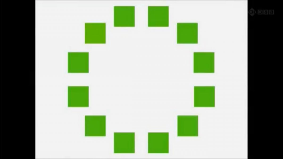 identical green squares with one slightly lighter - Himba Test
