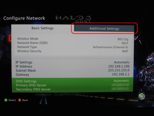 XBox 360 Basic Settings
