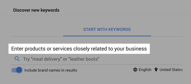 key word planner