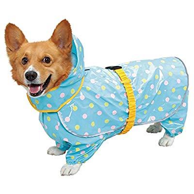 超便利又時尚的寵物雨衣