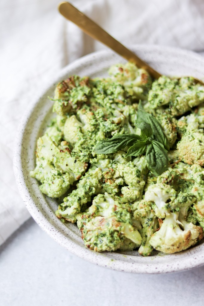 vegan pesto cauliflower