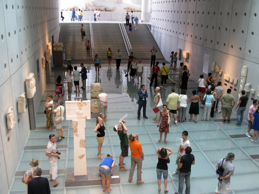 The new Acropolis Museum interior in Athens, Greece