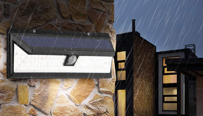 Đèn LED cảm ứng hành lang năng lượng mặt trời