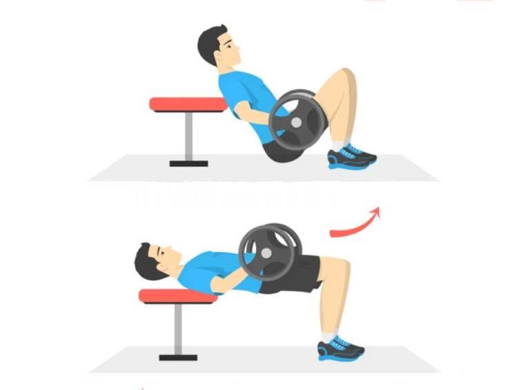 ejemplo de realización del hip thrust