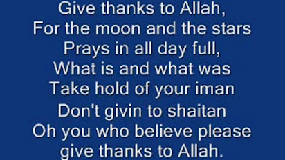 Thanks To Allah Song Download