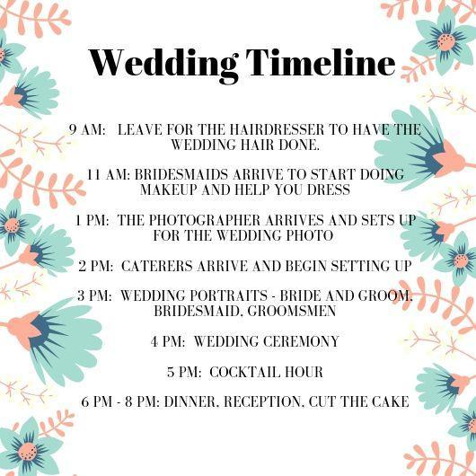 keeping everyone on track, a timeline helps you to keep track - wedding planning tips - wedding ideas blog by K'MIch - wedding services in Philadelphia PA