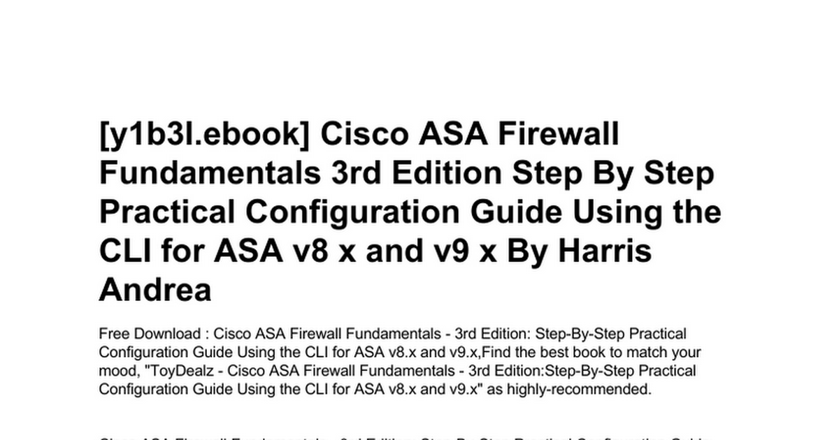 cisco-asa-firewall-fundamentals-3rd-edition-step-by-step-practical