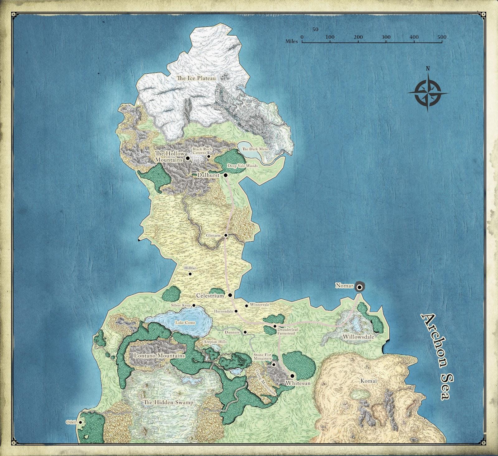 d&d homebrew continent map