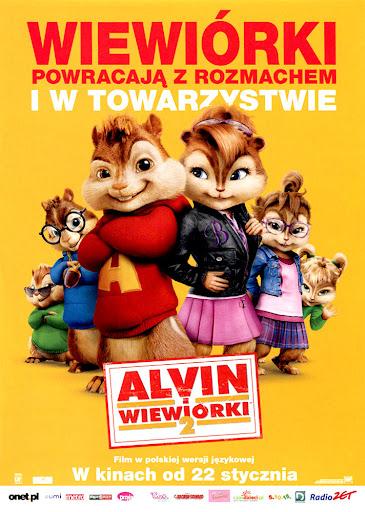 Przód ulotki filmu 'Alvin i Wiewiórki 2'