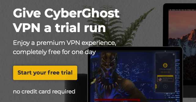 CyberGhost free trial ad