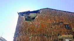Parte de la fachada desprendida