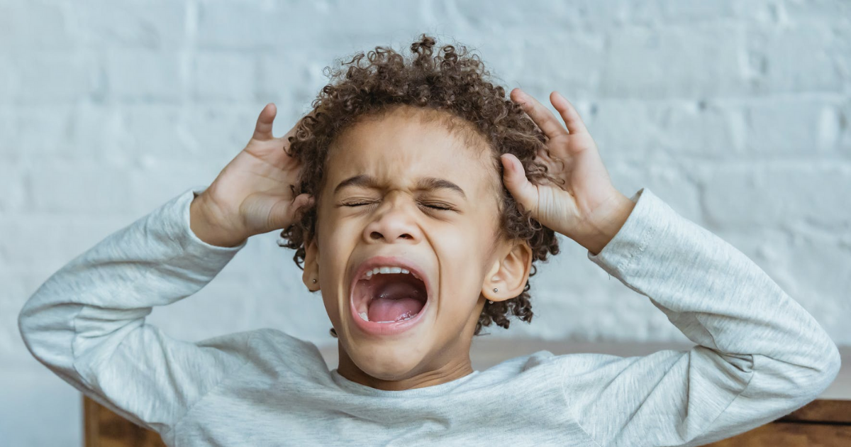 how a  stressed child expresses themselves