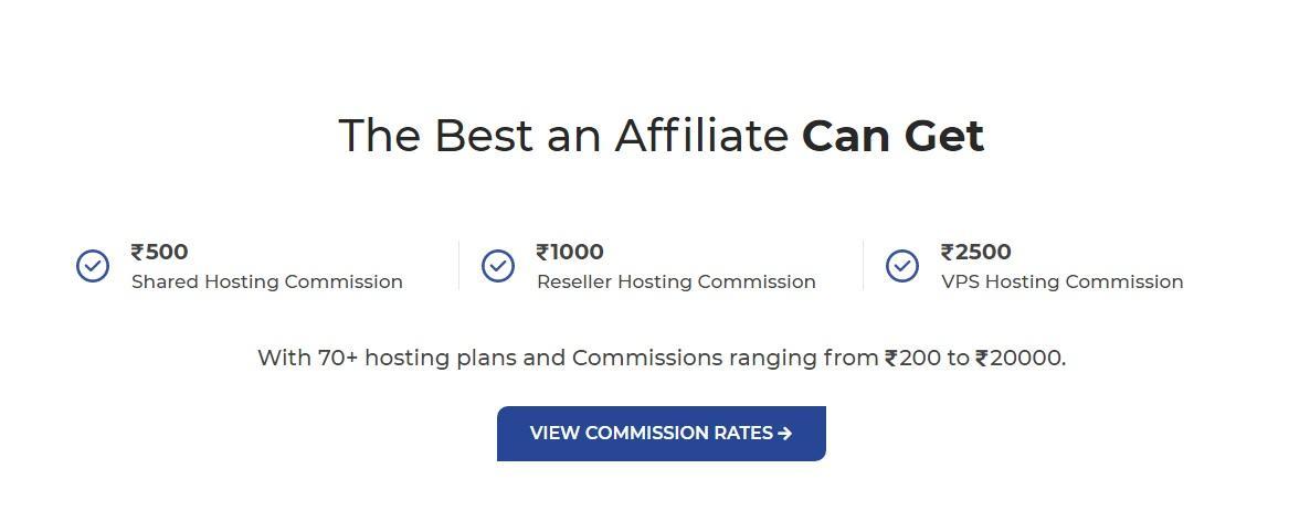 MilesWeb Affiliate Commission Rates