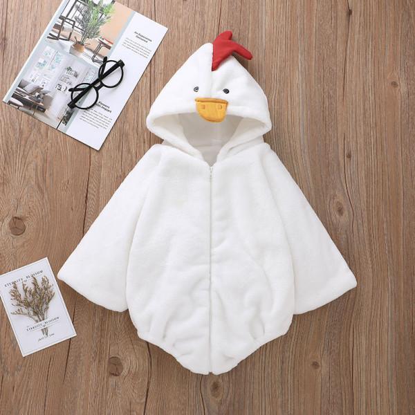 Halloween Little Chicken Hooded Romper With 3D Details