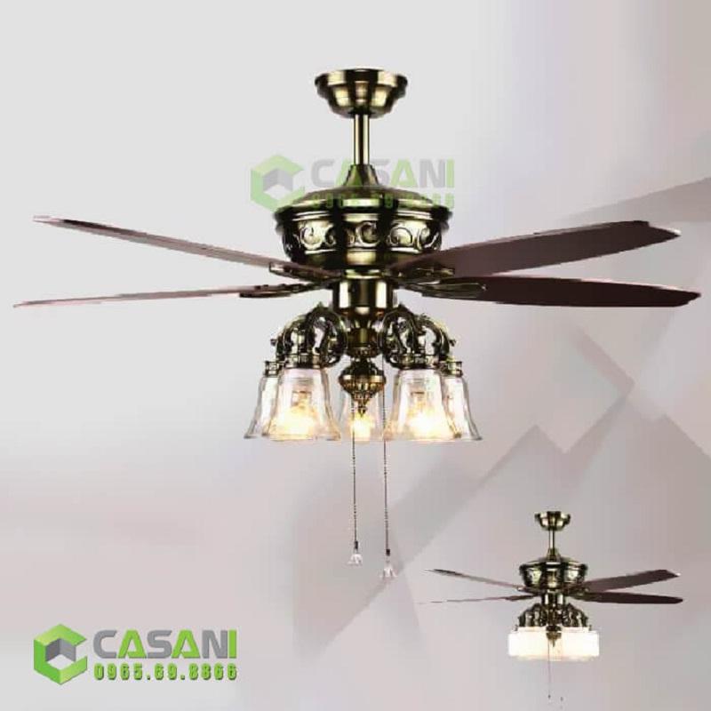 Những mẫu quạt trần đèn cánh gỗ đẹp phù hợp với mọi nhà