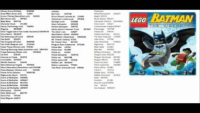Lego Batman The Videogame Cheat Codes Ps3