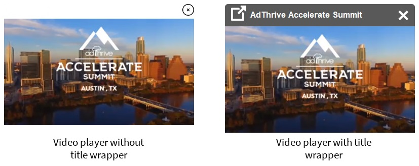 Sticky video players with and without the wrapper