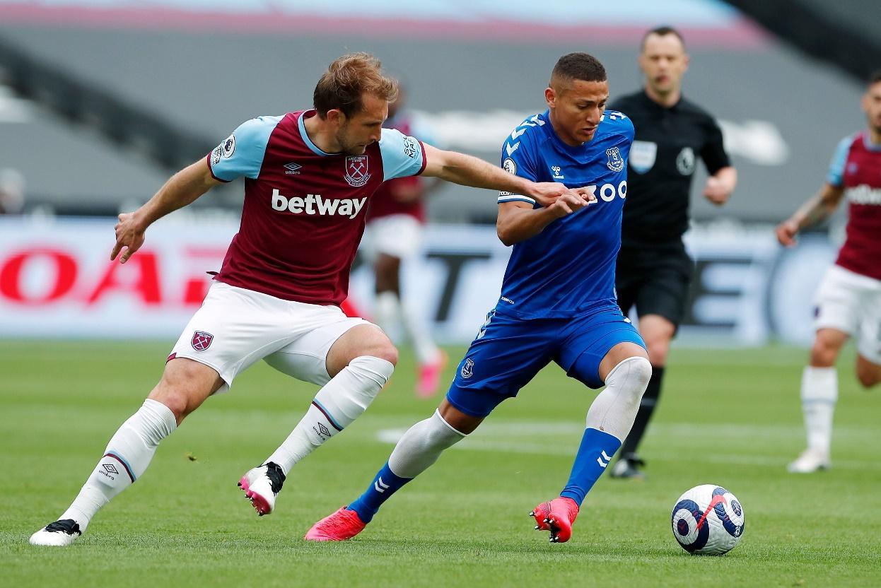 Everton đã đánh bại West Ham 1-0 ở lần đối đầu gần nhất