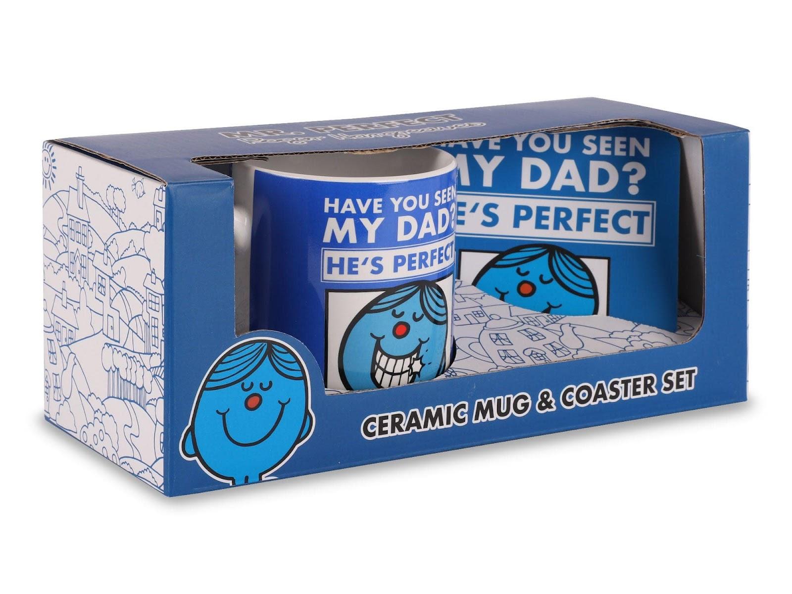 Mr Perfect fathers dad mug and coaster