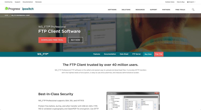 Khách hàng FTP tốt nhất: WS_FTP® Professional