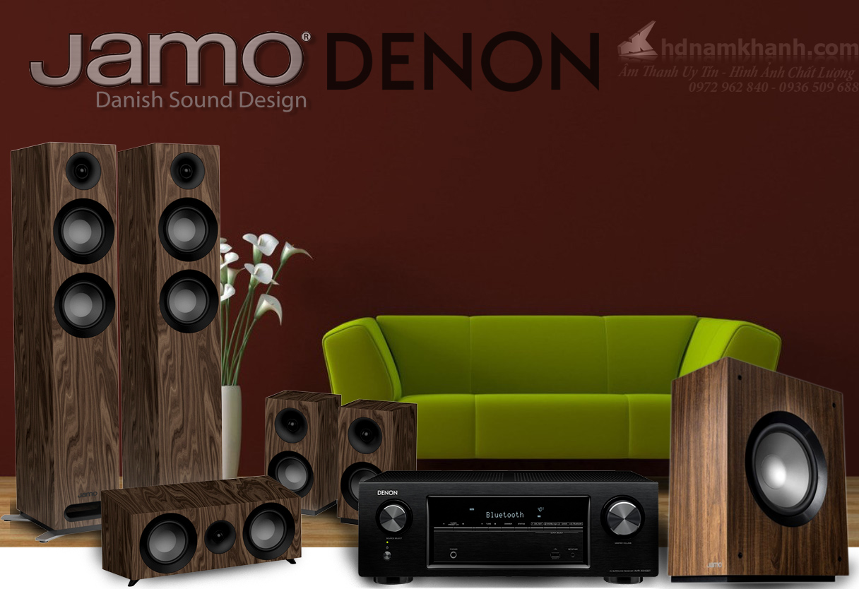 Bộ xem phim 28 triệu Amply Denon X550BT + Loa Jamo S807 + Sub Jamo S80 - 1