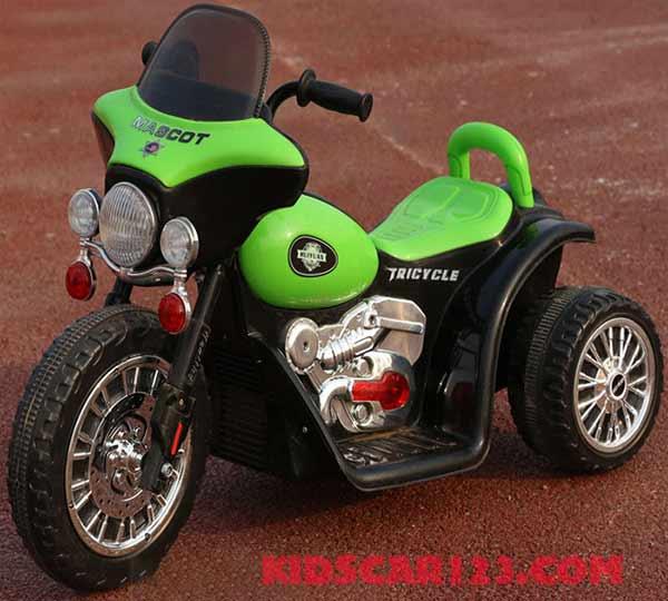 xe máy điện cho bé XJL-200 xanh lá