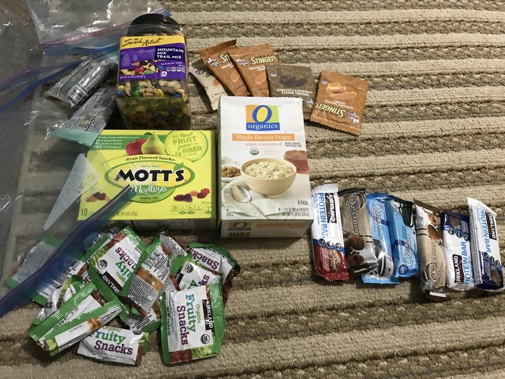 lunch food for colorado trail through hike
