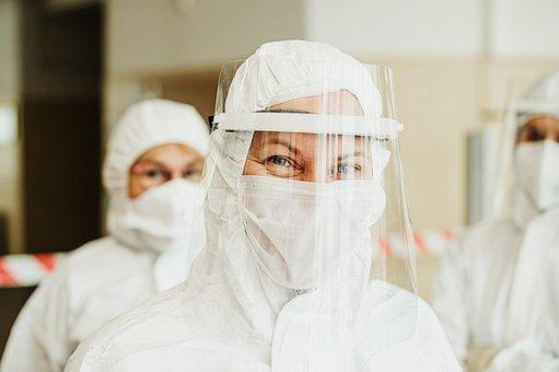 Protective Suit, Face Mask, Face Shield