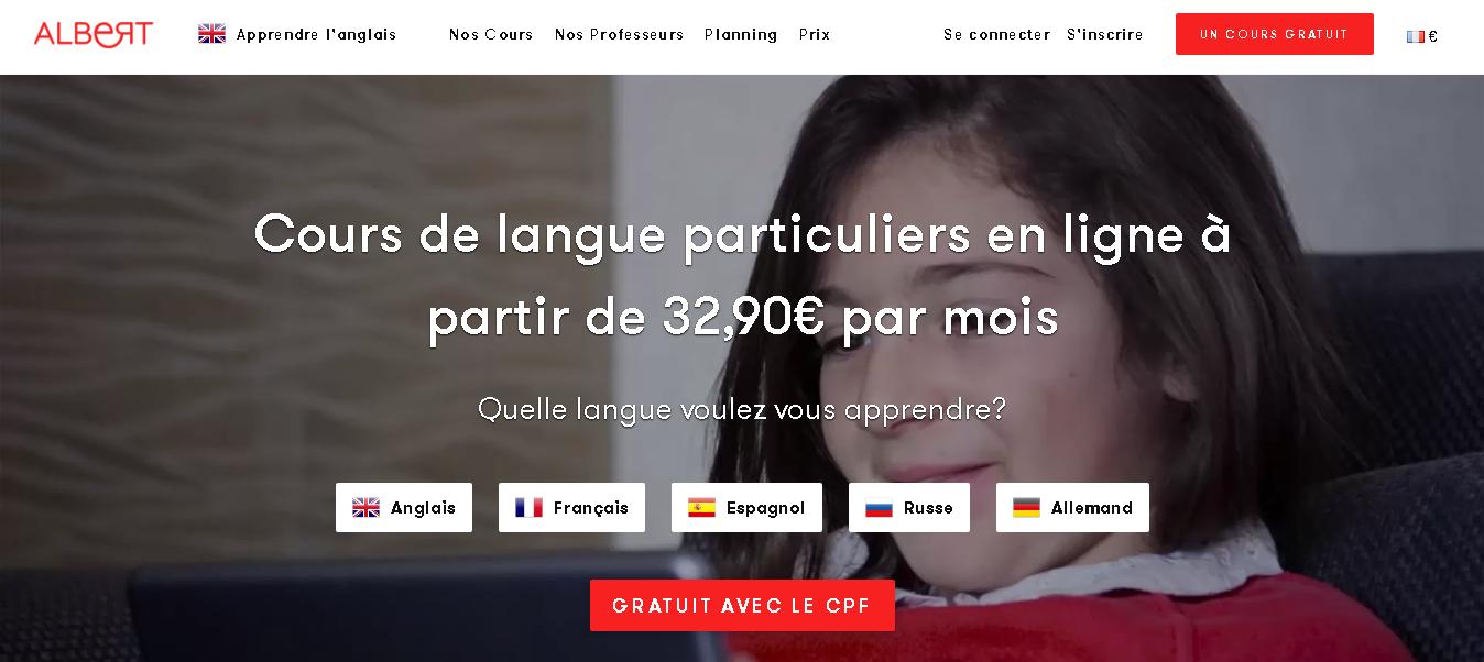 Chez Albert Learning, apprendre des langues presque gratuit