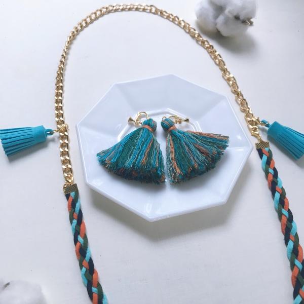Pinkoi市集-流蘇耳環