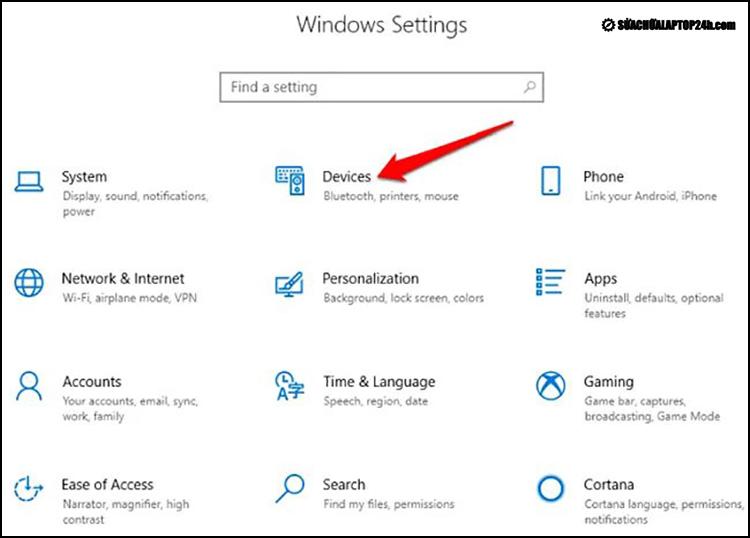 Các bước truy cập Windows Settings