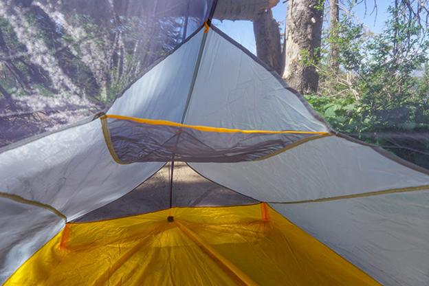 Over head storage in Fly Creek HV UL2 Bikepack Tent
