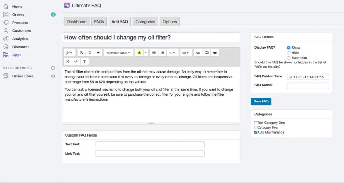 best Shopify FAQ app in the market