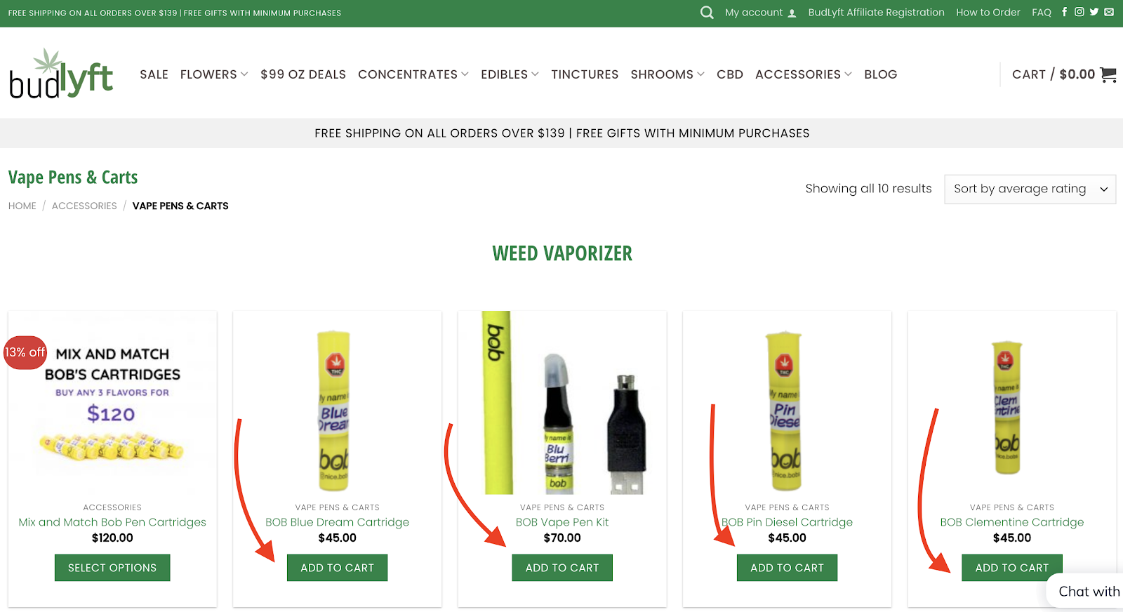 Buy Weed Online - Add to Cart