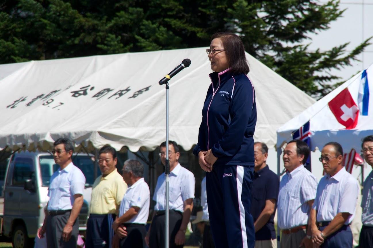 体育協会・北島喜代 副会長