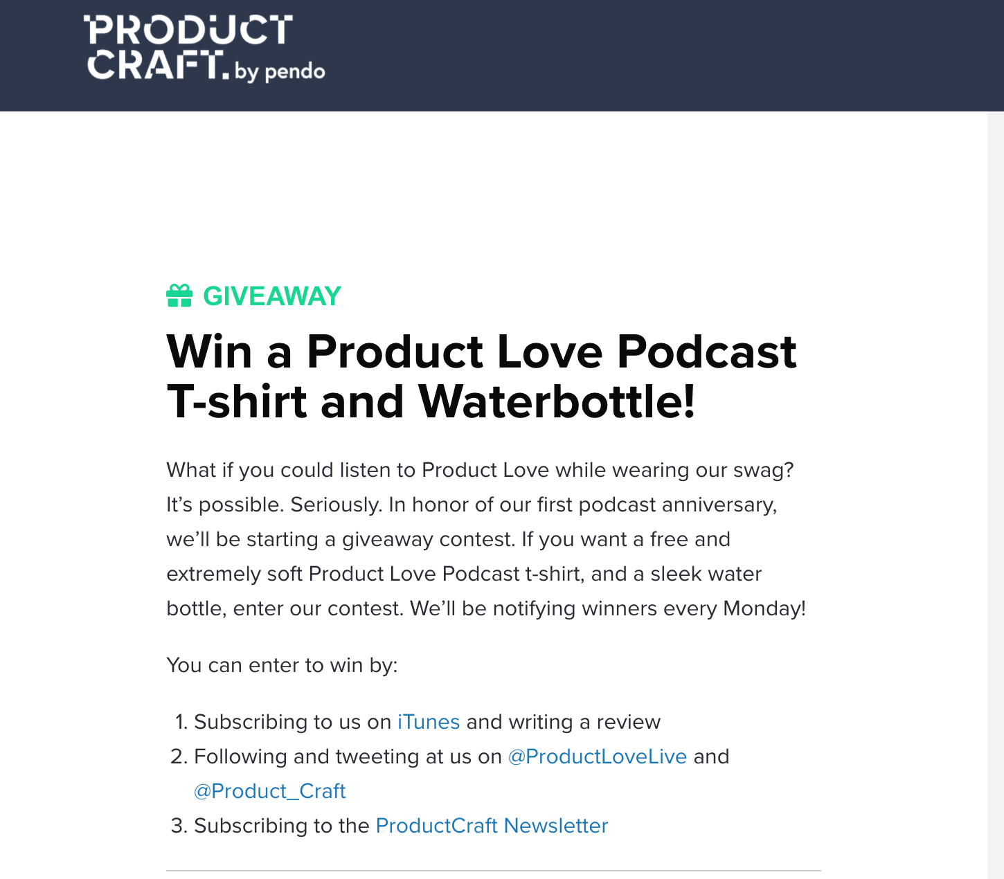 Podcsat review giveaway